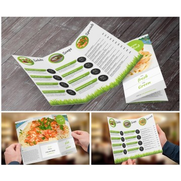 8.5x14 Trifold Brochures