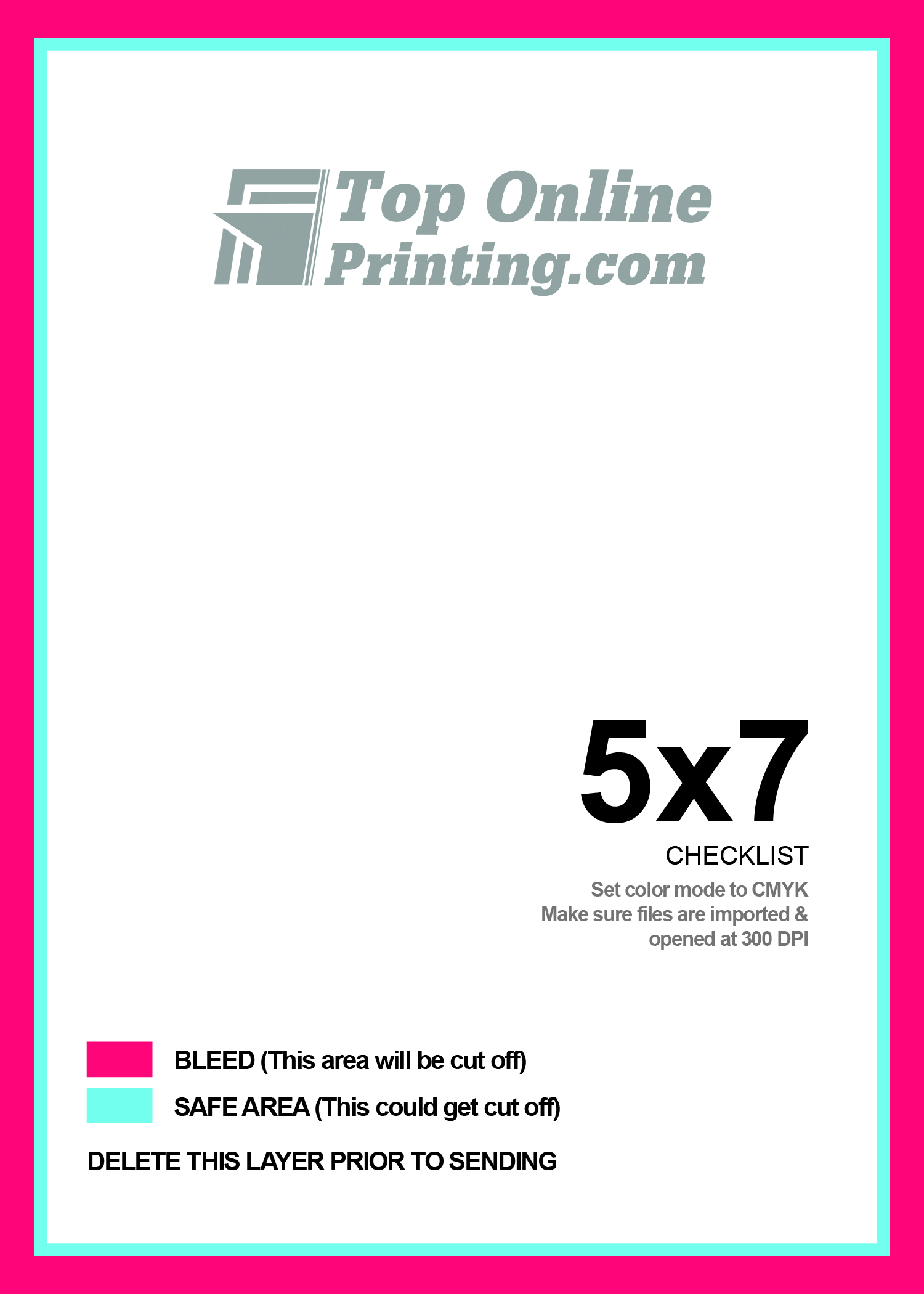 5x7 postcard printing for 5x7 postcard mailing template