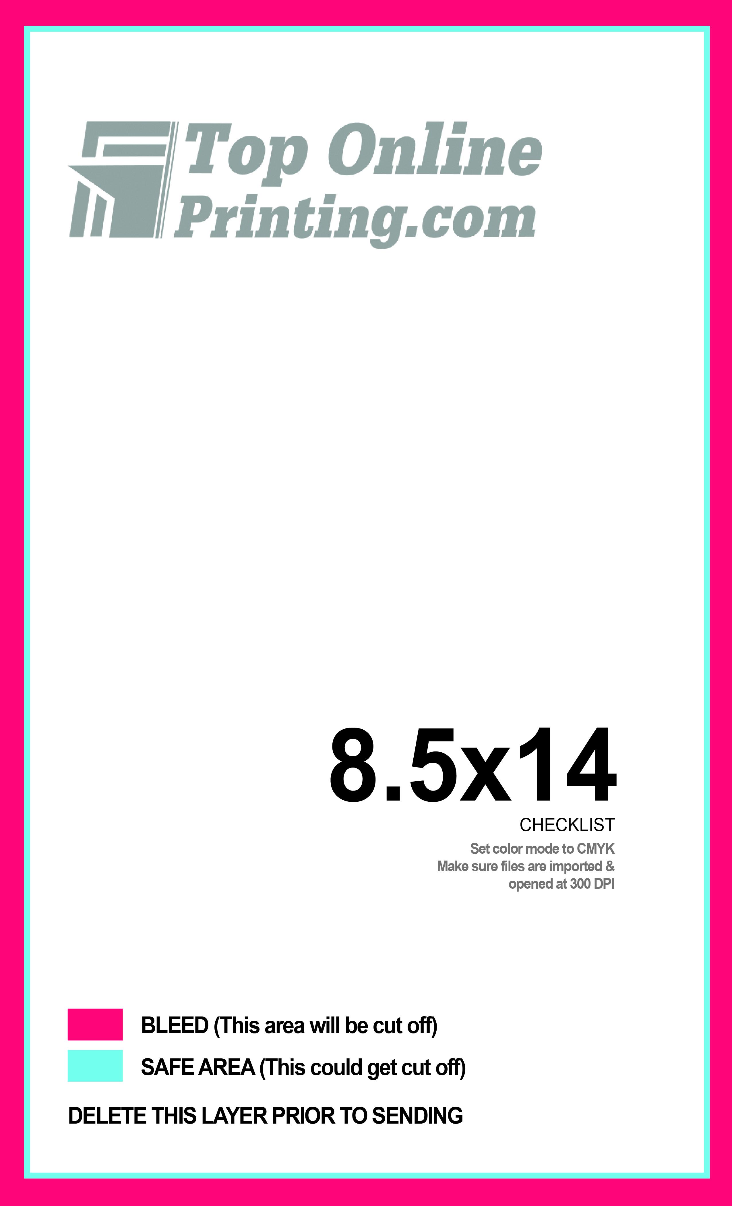 8 5 x 14 brochure template - tri fold brochure printing